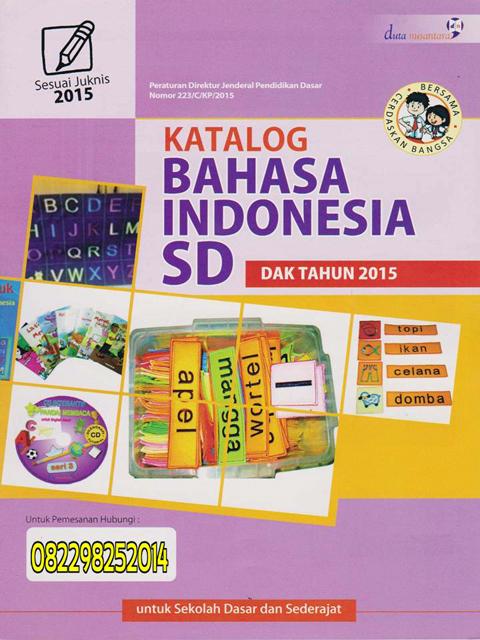 Katalog Bahasa Indonesia SD Dak Tahun 2015-2016