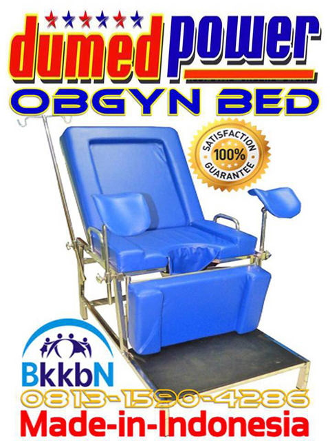 Obgyn-Bed-BKKBN-2017-plus-Lampu-Periksa-Halogen 50 Watt-Portable