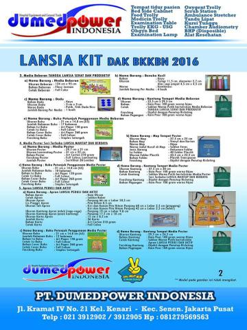 Jual Lansia Kit BKKBN 2016 Murah