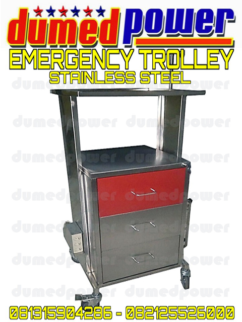 Jual Troli Emergency Stainless Steel Murah