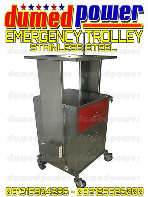 Jual Troly Emergency Stainless Steel Murah