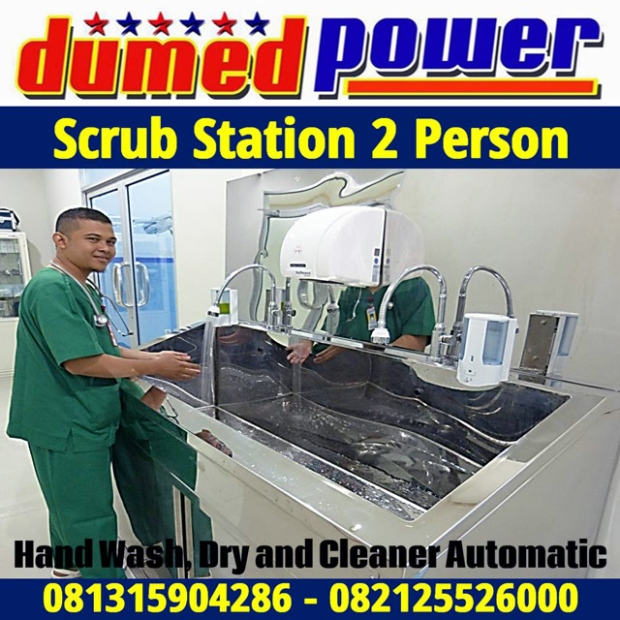 Scrub Station 2 Person Automatic Sensor