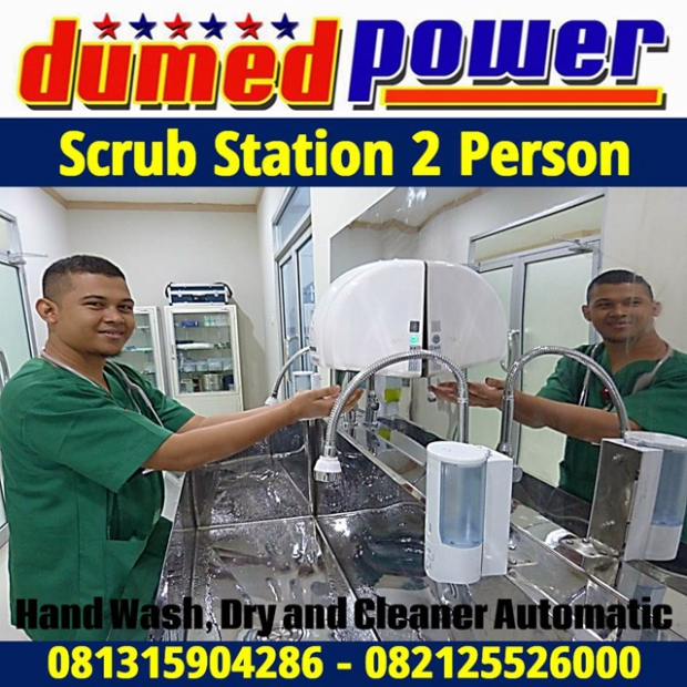 Scrub Station 2 Person - Hand Wash - Dry and Cleaner Automatic Sensor