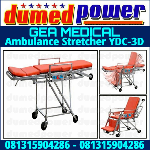 Brankar Ambulance Stretcher YDC-3D Gea medical