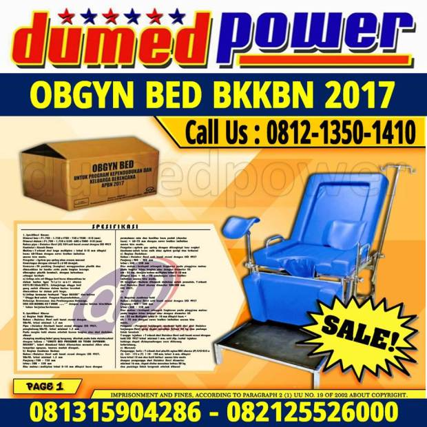 Obgyn Bed BKKBN 2017 Penyalur Alat Kesehatan - IPAK - ISO