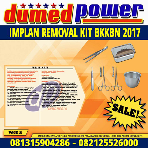 Implan Removal Kit DAK BKKBN 2017