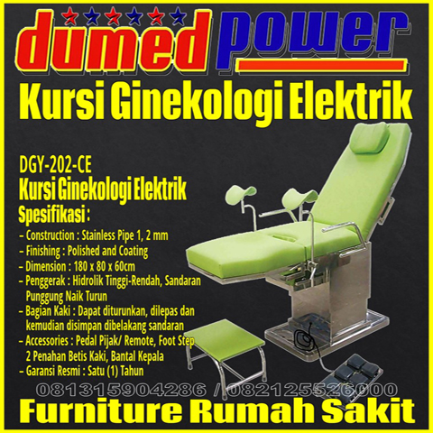 Kursi Ginekolog Elektrik - Obgyn Chair Electric Stainless Steel DGY-202-CE